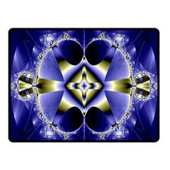 Fractal Fantasy Blue Beauty Fleece Blanket (Small)