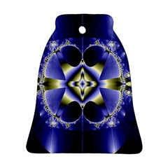 Fractal Fantasy Blue Beauty Ornament (Bell)