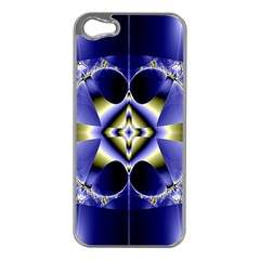 Fractal Fantasy Blue Beauty Apple iPhone 5 Case (Silver)