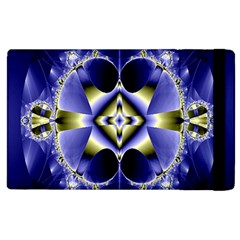 Fractal Fantasy Blue Beauty Apple Ipad 2 Flip Case