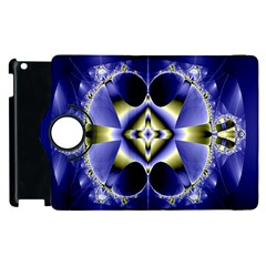 Fractal Fantasy Blue Beauty Apple iPad 3/4 Flip 360 Case
