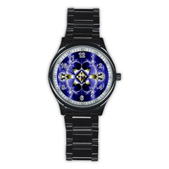 Fractal Fantasy Blue Beauty Stainless Steel Round Watch