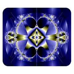 Fractal Fantasy Blue Beauty Double Sided Flano Blanket (Small)