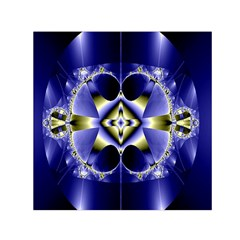 Fractal Fantasy Blue Beauty Small Satin Scarf (square)