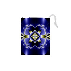 Fractal Fantasy Blue Beauty Drawstring Pouches (xs)