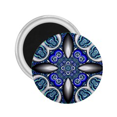 Fractal Cathedral Pattern Mosaic 2 25  Magnets