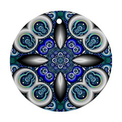 Fractal Cathedral Pattern Mosaic Ornament (Round)