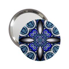 Fractal Cathedral Pattern Mosaic 2.25  Handbag Mirrors