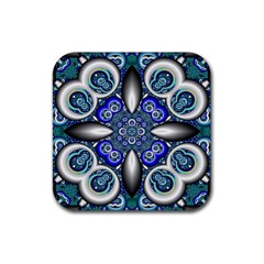 Fractal Cathedral Pattern Mosaic Rubber Coaster (Square)