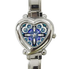 Fractal Cathedral Pattern Mosaic Heart Italian Charm Watch