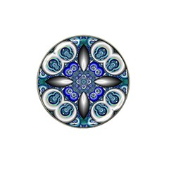 Fractal Cathedral Pattern Mosaic Hat Clip Ball Marker (4 pack)