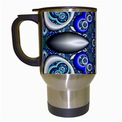 Fractal Cathedral Pattern Mosaic Travel Mugs (White)