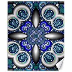 Fractal Cathedral Pattern Mosaic Canvas 16  x 20