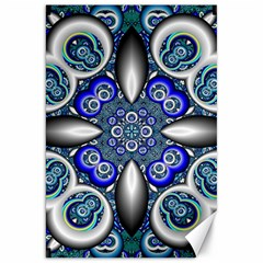 Fractal Cathedral Pattern Mosaic Canvas 20  x 30