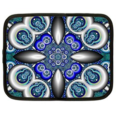 Fractal Cathedral Pattern Mosaic Netbook Case (xl)