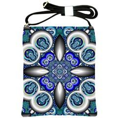 Fractal Cathedral Pattern Mosaic Shoulder Sling Bags