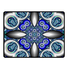 Fractal Cathedral Pattern Mosaic Fleece Blanket (Small)