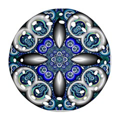 Fractal Cathedral Pattern Mosaic Round Filigree Ornament (Two Sides)