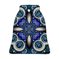 Fractal Cathedral Pattern Mosaic Bell Ornament (Two Sides)
