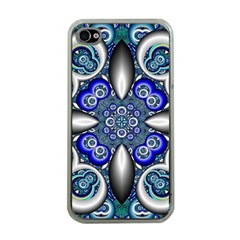 Fractal Cathedral Pattern Mosaic Apple Iphone 4 Case (clear)