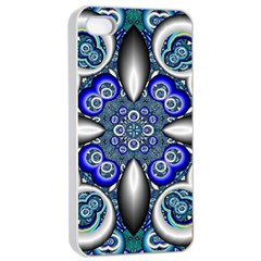 Fractal Cathedral Pattern Mosaic Apple iPhone 4/4s Seamless Case (White)