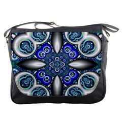 Fractal Cathedral Pattern Mosaic Messenger Bags