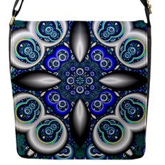 Fractal Cathedral Pattern Mosaic Flap Messenger Bag (s)