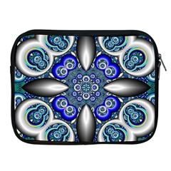 Fractal Cathedral Pattern Mosaic Apple iPad 2/3/4 Zipper Cases