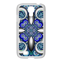 Fractal Cathedral Pattern Mosaic Samsung Galaxy S4 I9500/ I9505 Case (white)