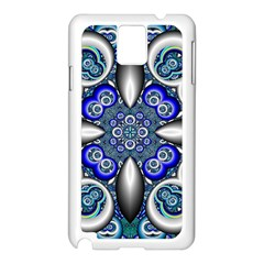 Fractal Cathedral Pattern Mosaic Samsung Galaxy Note 3 N9005 Case (white)