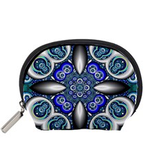 Fractal Cathedral Pattern Mosaic Accessory Pouches (Small)