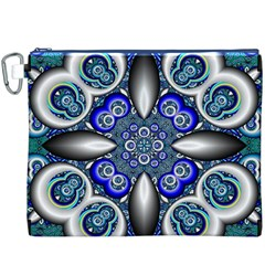 Fractal Cathedral Pattern Mosaic Canvas Cosmetic Bag (XXXL)