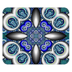 Fractal Cathedral Pattern Mosaic Double Sided Flano Blanket (Small)