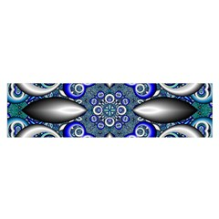 Fractal Cathedral Pattern Mosaic Satin Scarf (Oblong)