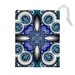 Fractal Cathedral Pattern Mosaic Drawstring Pouches (extra Large)