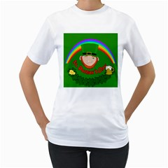 St. Patrick s day Women s T-Shirt (White) (Two Sided)