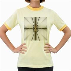 Fractal Fleur Elegance Flower Women s Fitted Ringer T-Shirts