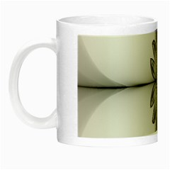 Fractal Fleur Elegance Flower Night Luminous Mugs