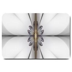 Fractal Fleur Elegance Flower Large Doormat