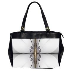 Fractal Fleur Elegance Flower Office Handbags (2 Sides)