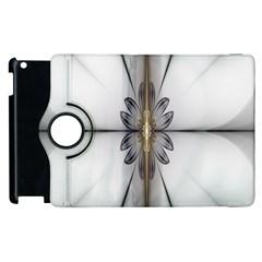 Fractal Fleur Elegance Flower Apple iPad 3/4 Flip 360 Case