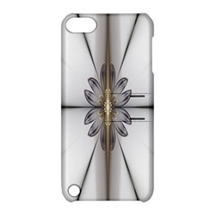 Fractal Fleur Elegance Flower Apple Ipod Touch 5 Hardshell Case With Stand