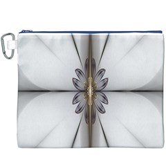 Fractal Fleur Elegance Flower Canvas Cosmetic Bag (xxxl)