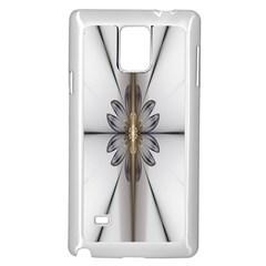 Fractal Fleur Elegance Flower Samsung Galaxy Note 4 Case (white)