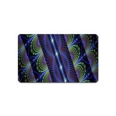 Fractal Blue Lines Colorful Magnet (Name Card)
