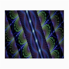 Fractal Blue Lines Colorful Small Glasses Cloth (2 Side)