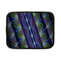 Fractal Blue Lines Colorful Netbook Case (small)