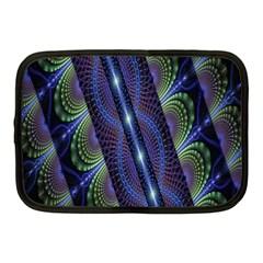 Fractal Blue Lines Colorful Netbook Case (Medium)