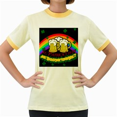 Beer mugs Women s Fitted Ringer T-Shirts