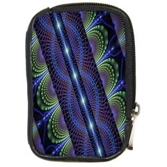Fractal Blue Lines Colorful Compact Camera Cases